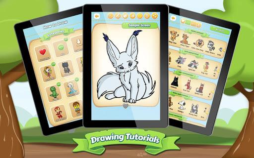 マンガ動物を描画する方法