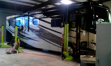 Photo: Our Motorhome After Being Lifted