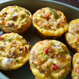 Turkey Sausage & Bell Pepper Egg Cups