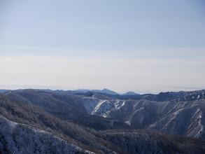 中央に高賀山と瓢ヶ岳