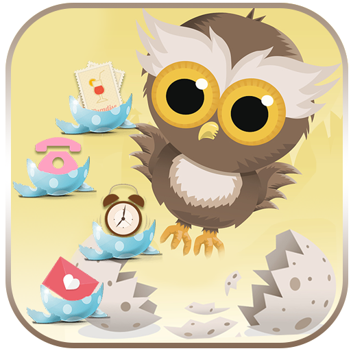 Cute Cartoon Owl Theme Wallpaper