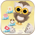 Cute Cartoon Owl Theme Wallpaper icon