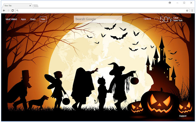 Halloween Wallpapers HD New Tab Themes
