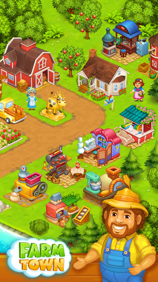 Farm Town: Happy village near small city and town- screenshot