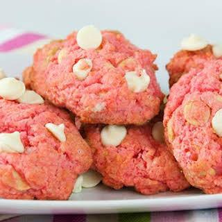 Pink Velvet White Chocolate Cookies.