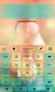 Light GO Keyboard Theme Emoji - náhled