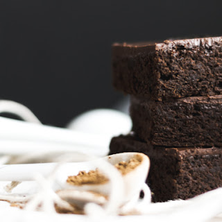 Frosted Gluten Free Gingerbread Brownies.