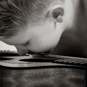 playing by Stephanie Halley - Babies & Children Children Candids ( child, guitar )