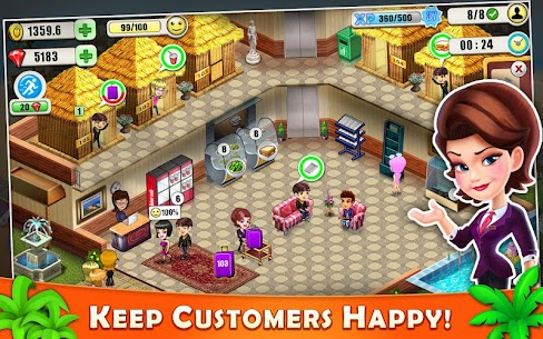 Resort Tycoon – Hotel Simulation MOD APK 9.3 [Unlimited Gems] 8