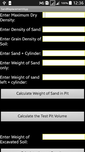 Sand Replacement App