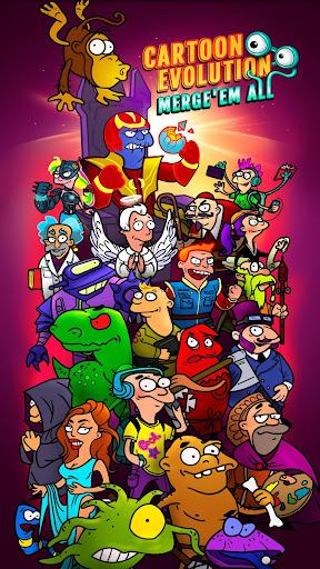 Cartoon Evolution : Merge Them All android2mod screenshots 1