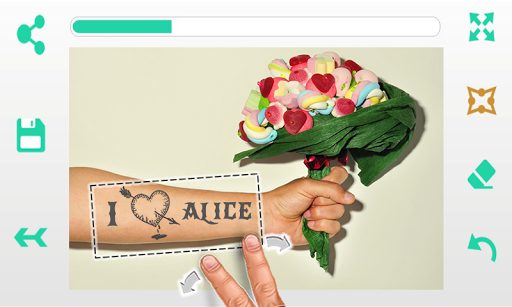 爱情纹身: 照片编辑器