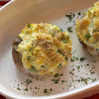 Holiday Crab & Cream Cheese Stuffed Mushrooms