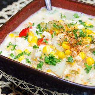 Crock Pot Crab & Corn Chowder.