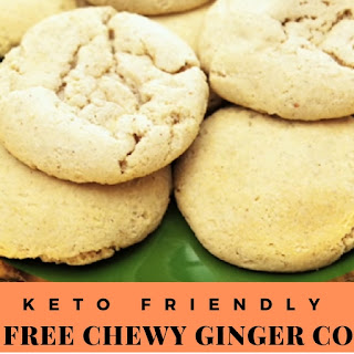 Keto Friendly Chewy Ginger Cookies.