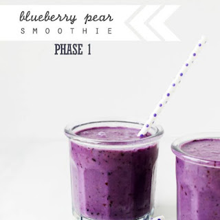 Blueberry Pear Smoothie.