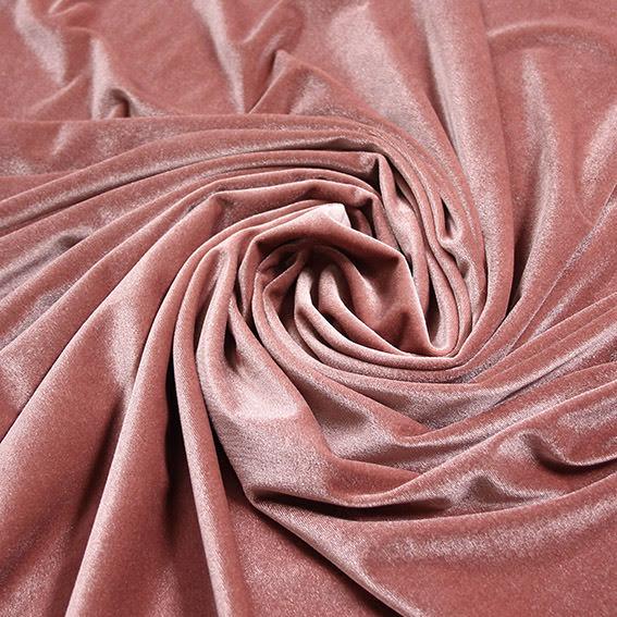 Stretchsammet - dusty pink