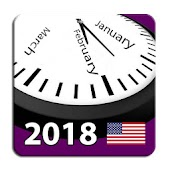 2018 US Calendar with Holidays and Observances