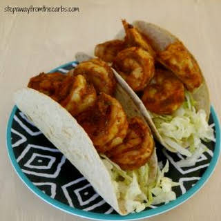Low Carb Shrimp Tacos.