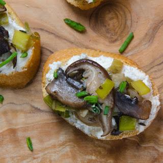 Wild Mushroom And Leek Crostini
