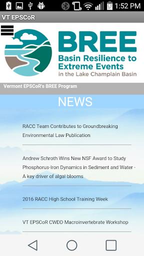 Vermont EPSCoR Communications  screenshots 1