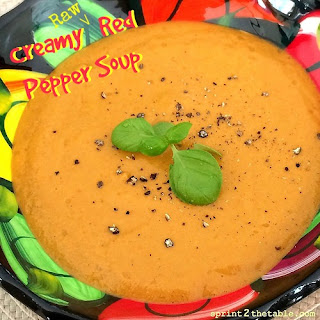 Creamy (Raw) Red Pepper Soup