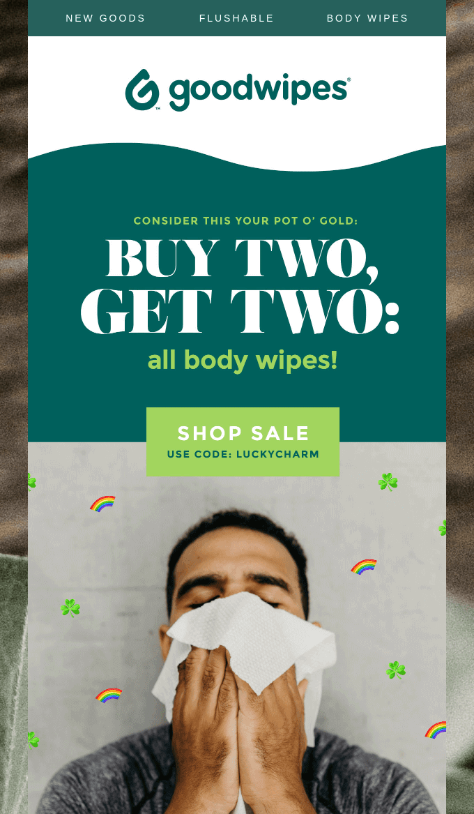 Shopify Email Newsletter: Goodwipes
