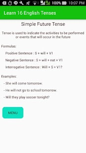 Learn 16 English Tenses Screenshot