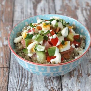 Smoked Salmon, Egg & Avocado Quinoa Bowl.