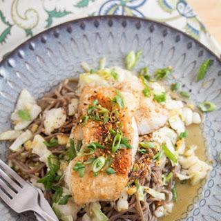 Crispy Cod & Yuzu-Shoyu Soba with Napa Cabbage