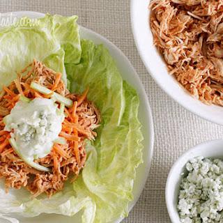 Buffalo Chicken Lettuce Wraps (Slow Cooker, Instant Pot).