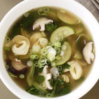Mushroom and Tortellini Soup.