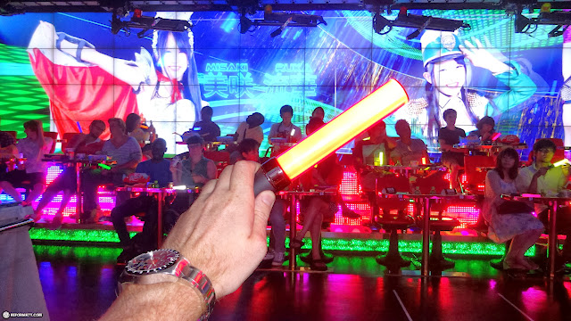glowsticks at the Robot Restaurant in Kabukicho in Kabukicho, Tokyo, Japan