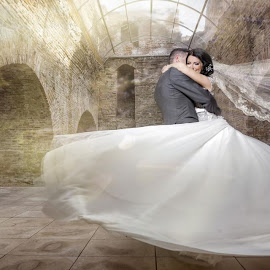 fairytale wedding by Constantin Butuc - Wedding Bride & Groom ( wedding photography )