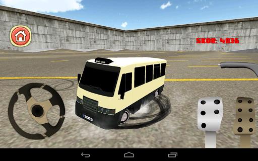 Minibus Drift Simulation 3D