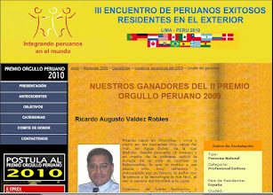 Photo: Premio Orgullo Peruano 2009. Octubre 2009.