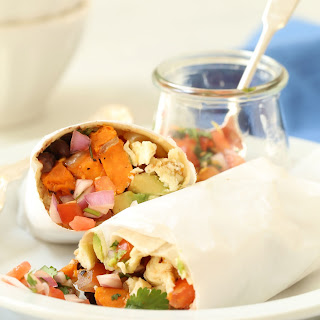 Healthy Breakfast Burritos.