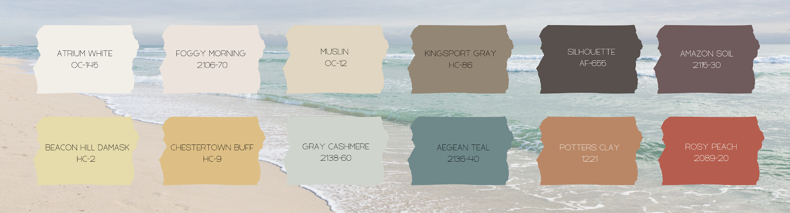 List of Benjamin Moore Color palette for 2021