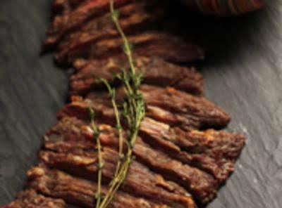 Skirt Steak With Hazelnut Romesco Recipe