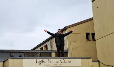 Photo: Xavier en haut de l'affiche