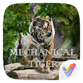 Mechanical Tiger Parallax V Launcher Theme