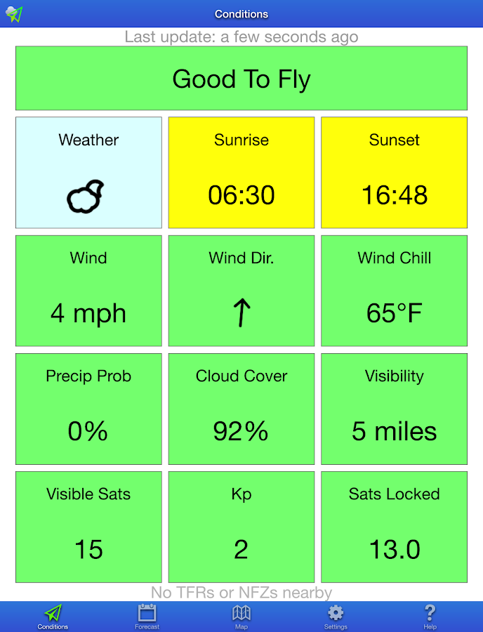 UAV Forecast- screenshot