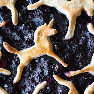 Unicorn Blueberry Pie