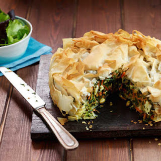 Feta And Vegetable Filo Pie.