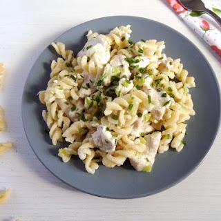 Fusilli with Chicken and Feta.