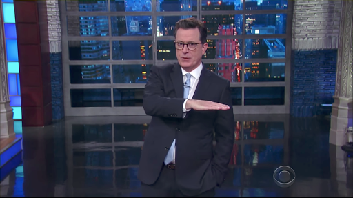 Stephen Colbert and late-night hosts double down on fake news