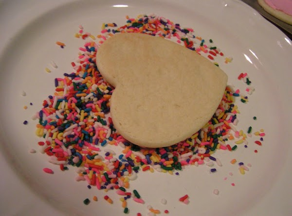 Directions for Frosting:Mix all ingredients together.  Spread on cookies.NOTE: Add candy sprinkles if...