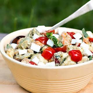 Tortellini Caprese Salad.