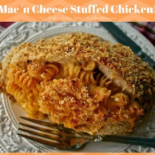 Mac 'n Cheese Stuffed Chicken Breasts.