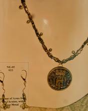 Photo: Clay pendant, base metal, silver plate  SOLD/ПРОДАНИЙ